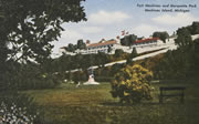 Fort Mackinac and Marquette Park Vintage Postcard