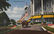 Grand Hotel Porch Vintage Postcard