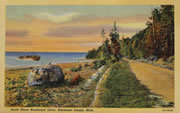 South Shore, Mackinac Island, Vintage Postcard