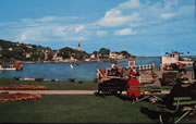 Mackinac Harbor Vintage Postcard